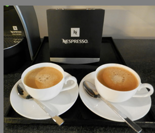 Nespresso Coffee in room - Battery Wharf Hotel, Boston, Massachusetts, USA - photo by Luxury Experience