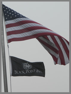 Flags at Black Point Inn, Maine - photo by Luxury Experience
