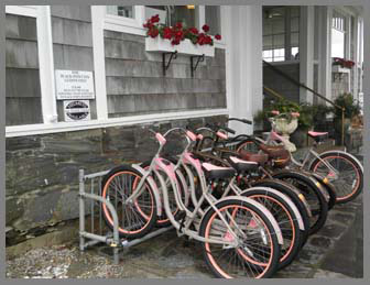 Bicycle Rack - Black Point Inn, Maine - photo by Luxury Experience