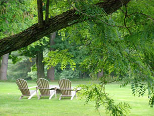 Adirondack Chairs - Blantyre, Lenox, Massachusetts, USA - Photo by Luxury Experience