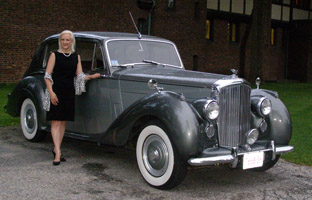 Debra with 1955 Bentley at Blantyre, Lenox, Massachusetts, USA - Photo by Luxury Experience