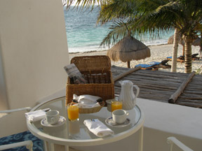 Ceiba del Mar Beach & Spa Resort, Riviera Maya, Mexico - Breakfast on the Terrace