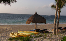 Ceiba del Mar Beach & Spa Resort, Riviera Maya, Mexico - Kayaks on the Beach
