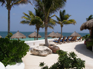 Ceiba del Mar Beach & Spa Resort, Riviera Maya, Mexico - View from Restaurant