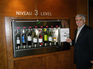 Edward at the Enoteca Wine Machine - Photo by Luxury Experience