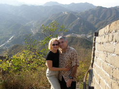 Beijing, China - Commune By The Great Wall  Kempinski - Debra and Edward Walking the Great Wall
