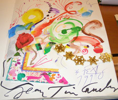 Guest Book signed by Jean Tinguely
