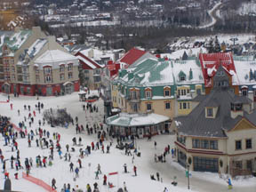 Pedestrian Village - View From The Fairmont Tremblant - Mont-Tremblant, Canada
