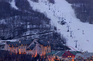 Night View from The Fairmont Tremblant - Mont-Tremblant, Canada
