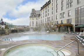 Outdoor Pool Hot Tub at The Fairmont Tremblant, Mont-Tremblant, Canada