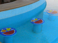 Citrus Pool Bar Stools