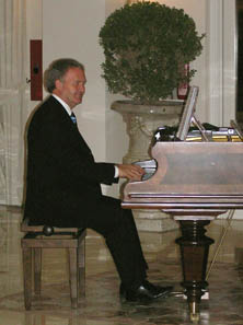 Piano Music in the Lobby in the evening
