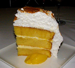 Lemon Meringue Cake - The Supper Room at Glenmere Mansion, Chester, New York - Photo by Luxury Experience
