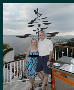 Debra Argen and Edward Nesta at- Grand Miramar Puerto Vallarta, Mexico - photo by Luxury Experience
