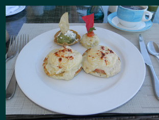 Eggs Benedict - Grand Miramar Puerto Vallarta, Mexico - photo by Luxury Experience