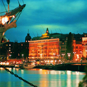 Evening View exterior - Grand Hotel Stockholm, Sweden