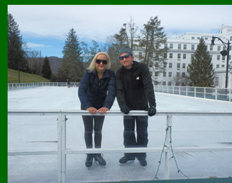 Ice Skating, Tyler Hagemo, Debra Argen, - The Greenbrier Resort - Photo by Luxury Experience
