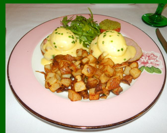 Eggs Benedict - The Greenbrier Resort - photo by Luxury Experience