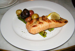 Wild King Salmon at the Parlour at Roger Hotel New York - Photo by Luxury Experience