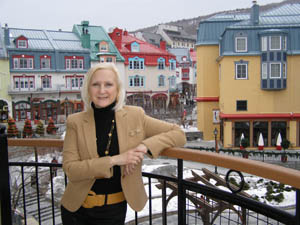 Terrace overlooking Pedestrian Village - Le Westin Resort & Spa, Tremblant - Photo by Luxury Experience