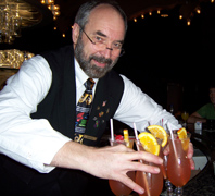 Bartender Marvin Allen of Hotel Monteleone's Carousel Bar and Lounge