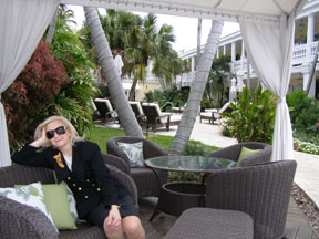 Debra Relaxing at The Pillars at New River Sound, Fort Lauderdale, Florida