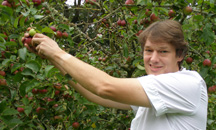 Rathsallagh House, Dunlavin, Ireland - Chef John Picking Apples