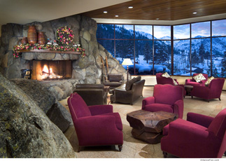 Reception Fireplace - Resort at Squaw Creek, Olympic Village USA, California