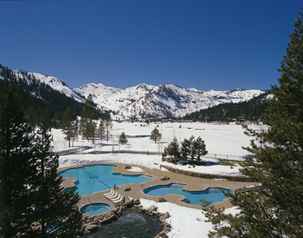 Outdoor Heated Pool and Hot Tubs - Spa at Resort at Squaw Creek, Olympic Village USA, California