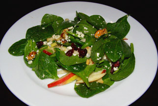Taffy Apple Salad - Sandy's Pub - Resort at Squaw Creek, Olympic Village USA, California - photo by Luxury Experience