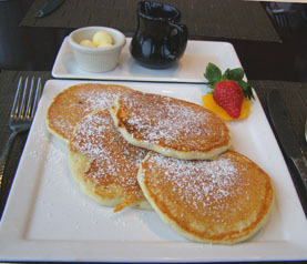 Pancakes at Six Peaks Grille - Resort at Squaw Creek, Olympic Village USA, California - photo by Luxury Experience