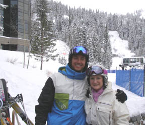 Jonny Moseley and Debra Arge at Squaw Valley, Olympic Village USA, California - photo by Luxury Experience