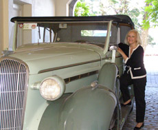 Sheen Falls Lodge, Kenmare, County Kerry, Ireland - Debra C. Argen with 1936 Buick Roadmaster