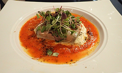 Eggplant Rollatini - Claude's Restaurant - Southampton, New York - photo by Luxury Experience