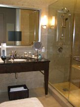 Trump International Hotel and Tower Chicago - Bathroom with TV in Mirror