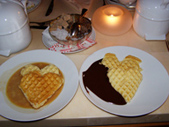 Tschuggen Grand Hotel - Heart Shapped Waffles