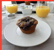 Nutella Banana Nut Muffin - photo by Luxury Experience