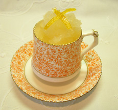 Luxury Experience's Grapefruit and St Germaine Sorbet