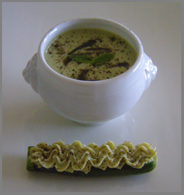 Luxury Experience - Edamame and Leek Soup - Photo by Luxury Experience