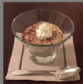 Luxury Experience - Blue Ice White Russian Pudding - photo by Luxury Experience