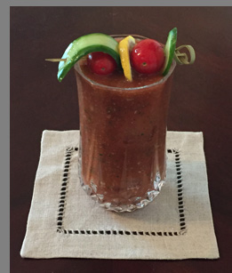 Luxury Experience - Cilantro Pistachio Pesto Bloody Mary - photo by Luxury Experience