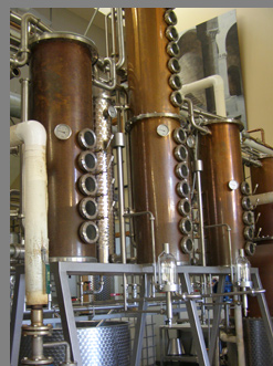 Catskill Distilling Company - disterry columns - photo by Luxury Experience