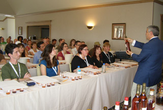 Edward F. Nesta discussing Armagnac with attendees