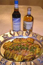 Luxury Experience's Depaz Salmon Experience with Pineapple Salsa and Grilled Pineapple