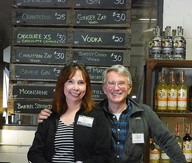 Bridget and Rob Schulten - Fifth State Distillery - photo by Luxury Experience
