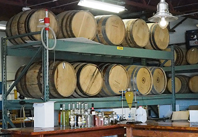 Barrels at  - Fifth State Distillery - photo by Luxury Experience