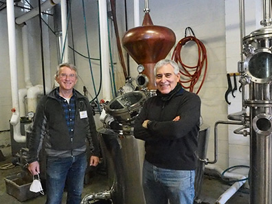 rob Schulten and Edward F. Nesta at Fifth State Distillery - photo by Luxury Experience