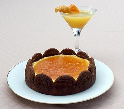 Luxury Experience - Orange Ginger Cheesecake - photo by Luxury Experience