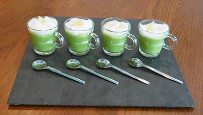Luxury Experience - Green Pea with Cappuccino Foam Soup - photo by Luxury Experience