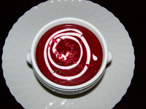 Luxury Experience Rose and Beet Soup - Photo By Luxury Experience